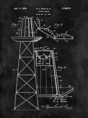 Navigation Mixed Media - Airport Beacon Patent by Dan Sproul