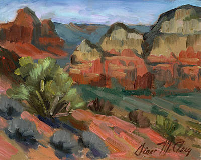 Airport Painting - Airport Mesa Sedona  by Diane McClary
