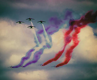 Maps Photograph - Airshow by Martin Newman