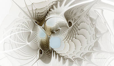 Abstraction Digital Art - Airy Space2 by Karin Kuhlmann