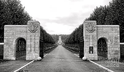Entrance Memorial Photograph - Aisne Marne American Cemetery  by Olivier Le Queinec