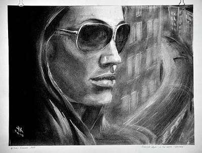 A.jolie In The Movie Wanted. Print by Yuriy Krasnov