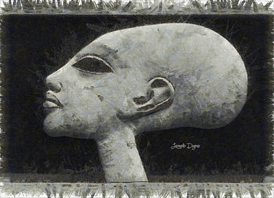 Pencil Painting - Akhenaten Was Among Us by Leonardo Digenio