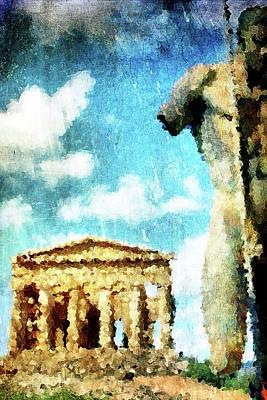 Sicily Digital Art - Akragas by Andrea Barbieri