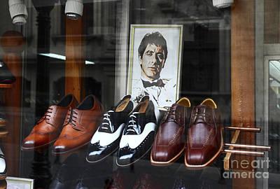 Mens Shoe Photograph - Al Pacino's Designer Shoe Collection by James Brunker