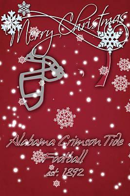 Alabama Crimson Tide Christmas Card 2 Print by Joe Hamilton