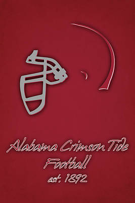 Alabama Crimson Tide Helmet Print by Joe Hamilton