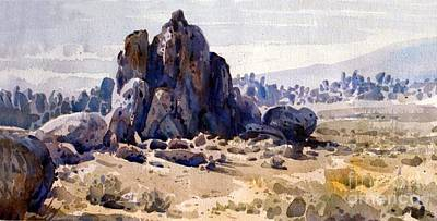Alabama Painting - Alabama Hills by Donald Maier