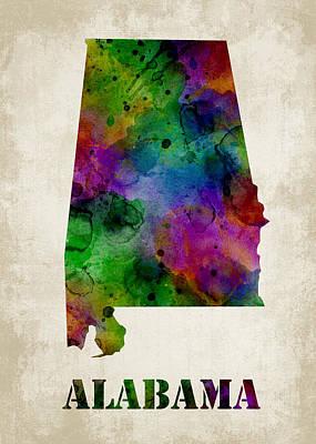 Alabama Print by Mihaela Pater