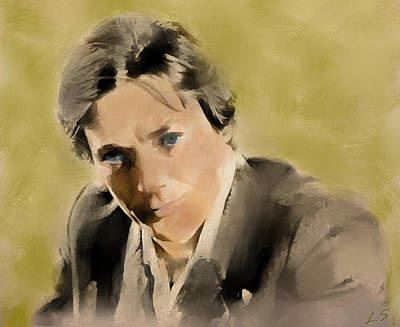 Painting - Alain Delon by Sergey Lukashin
