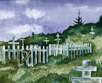 Alaska Graveyard  Original by Brenda Owen