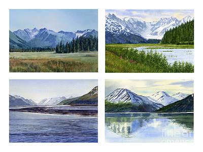 Landscape Poster Painting - Alaska Landscape Poster 2 by Sharon Freeman