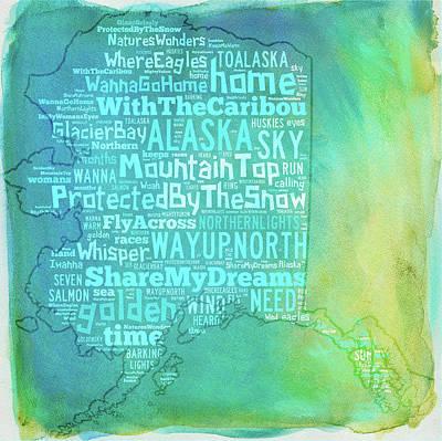 Digital Art - Alaska - Share My Dreams by Paulette B Wright
