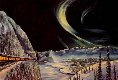 Alaskan Lights Print by Daniel W Green