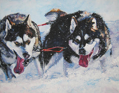 Alaskan Malamute Strong And Steady Print by Lee Ann Shepard