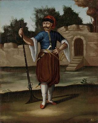 Albania Painting - Albanian Soldier by Celestial Images
