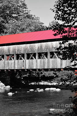 Photograph - Albany Covered Bridge Red by Patti Whitten