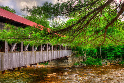 North Conway Photograph - Albany Covered Bridge - White Mountains New Hampshire by Joann Vitali
