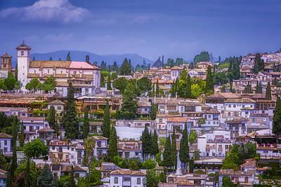 Albayzin View Granada Print by Joan Carroll