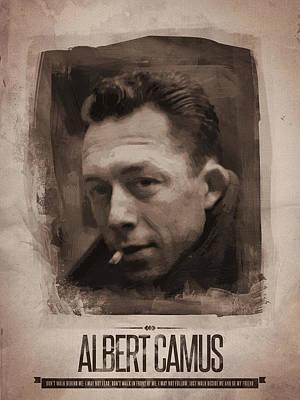 Author Digital Art - Albert Camus 02 by Afterdarkness