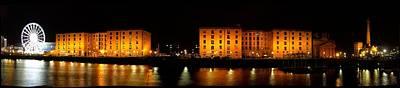 Scouse Photograph - Albert Dock Liverpool Panorama by Steve Kearns