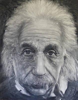 Einstein Drawing - Albert Einstein  by Adrienne Martino