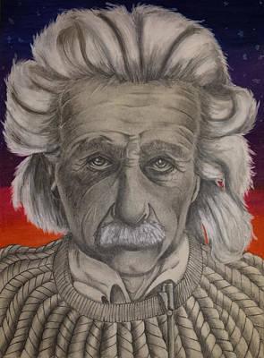 Einstein Drawing - Albert Einstein  by Felicia  Whaley