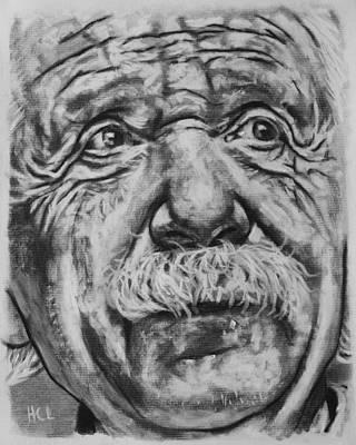 Einstein Drawing - Albert Einstein by Harrison Larsen