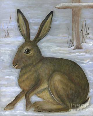 Polscy Malarze Painting - Albert The Hare by Anna Folkartanna Maciejewska-Dyba