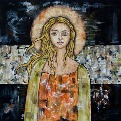 Christian Art . Devotional Art Painting - Alberta by Rain Ririn