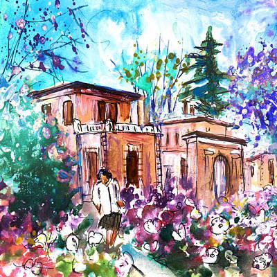Tree Blossoms Drawing - Albi En Fleur by Miki De Goodaboom