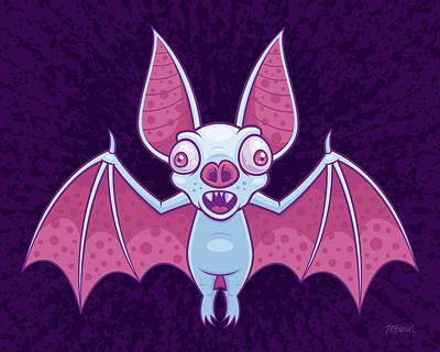 Halloween Digital Art - Albino Vampire Bat by John Schwegel