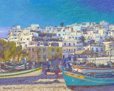 Old Town Digital Art - Albufeira Boats by Mikehoward Photography