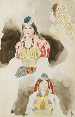 Album De Voyage Au Maroc Print by Eugene Delacroix