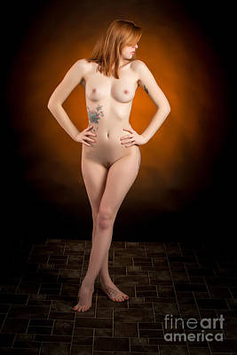 Nude Photograph - Nude Fine Art Print Woman Photo In Color 7114.02 by Kendree Miller