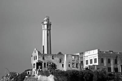 Alcatraz Photograph - Alcatraz II Bw by David Gordon