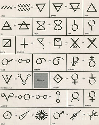 Alchemical Photograph - Alchemy Symbols by Science Source