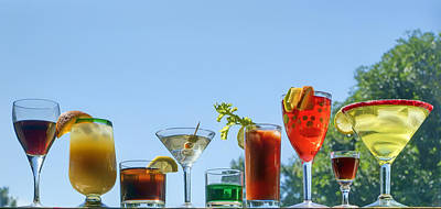 Alcoholic Beverages - Outdoor Bar Print by Nikolyn McDonald