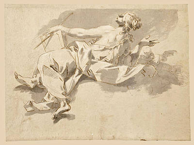 Drawing - Alegorical Female Figure by Sebastiano Galeotti