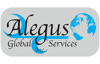 Alegus Global Blue Logo Original by Leon Gorani