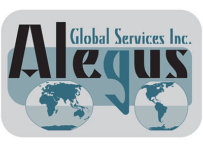 Alegus Global Gray Logo Original by Leon Gorani