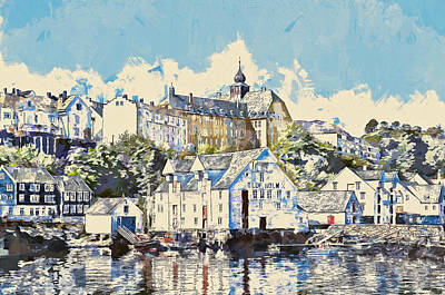 Alesund Waterfront Print by John K Woodruff