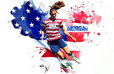 Landon Donovan Digital Art - Alex Morgan by Semih Yurdabak