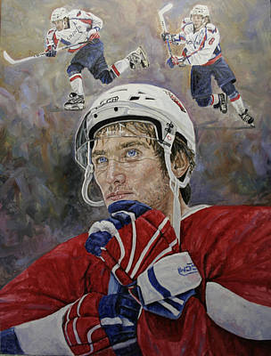 Ovechkin Painting - Alex The Great by Jason  Swain