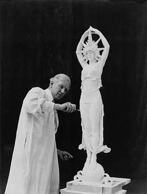 Statue Portrait Photograph - Alexander Calder 1870-1945, Working by Everett