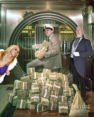 Alexander G. Bernard, His Money, Kimberly Diamond And Mr. Goldsworth  Print by Jim Fitzpatrick