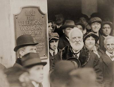 Alexander Graham Bell At The Unveiling Print by Everett