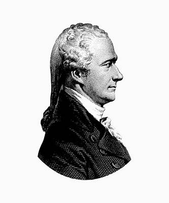 Democracy Mixed Media - Alexander Hamilton Graphic Portrait  by War Is Hell Store