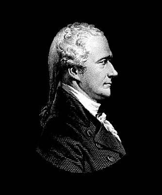 Democracy Mixed Media - Alexander Hamilton Portrait by War Is Hell Store