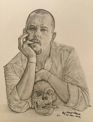 Alexander Mcqueen Drawing Original by Kent Chua